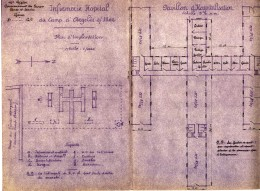 Plan d'implantation de l'infirmerie-hôpital du camp d'Argelès-sur-Mer, avril 1939.